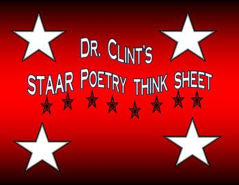 Poetry Think Sheet with Structural Elements Poem Type