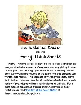 Poetry Thinksheets