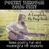 Poetry Through Song -  A No Prep Unit