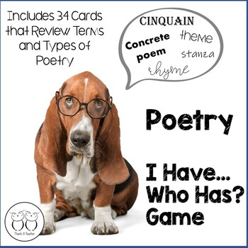Poetry Toolbox: I Have Who Has? Game Reviews Similie metaphors rhyme...