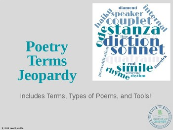 Poetry Tools Jeopardy