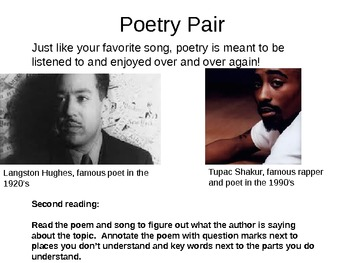 """Poetry Tutorial: Close Reading of Tupac """"Dear Momma"""" and Hughes """"Mother to Son"""""""