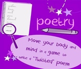 "Introduction to poetry ""Twisted"" game: write technique-driven poems"