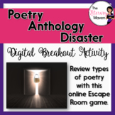 Poetry Types Digital Break Out Activity - Poetry Anthology Disaster