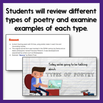 Poetry Types Digital Breakout Activity - Poetry Anthology Disaster