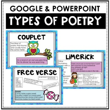 Poetry Unit with Poetry Posters, Elements of Poetry, Poems and Poetry Analysis