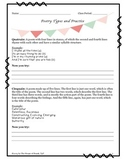 Poetry Types and Practice Activity
