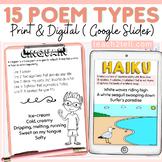National Poetry Month Poem Types Print & Digital