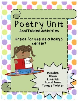"""Poetry Unit- My """"write your own"""" poetry series wrapped int"""
