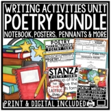 Focused Poetry Unit: Flip Book Poem Patterns, Posters, Poetry Writing Notebook