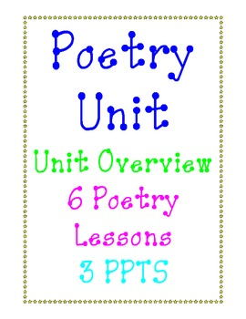Poetry Unit, 6 lessons