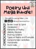 Poetry Unit BUNDLE- For Middle School