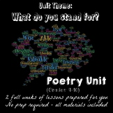 Poetry Unit for Intermediate Students