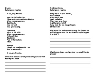 Poetry Unit with Comprehension Questions
