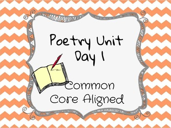 Poetry Lesson: Poetic Elements and Intro Activities