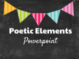 Poetry Power Point: Poetic Elements and Poetry Types