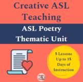 Poetry Unit - FULL Thematic Unit