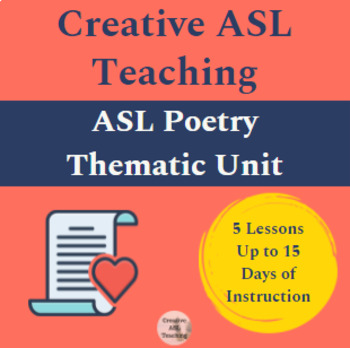 ASL Poetry Unit - FULL Thematic Unit - American Sign Language