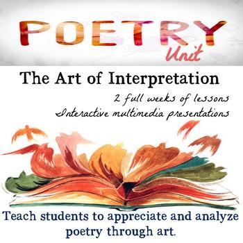 Poetry Unit : The Art of Interpretation   No Prep