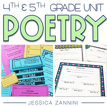 Poetry Unit - Fourth and Fifth Grade  (aligned with Common Core Standards)
