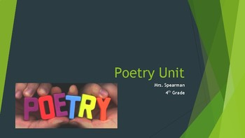 Poetry Unit Grades 3-5