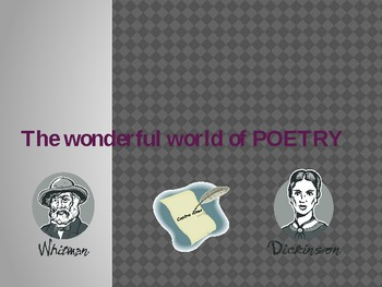 Poetry Unit Intro and Project (Hill)