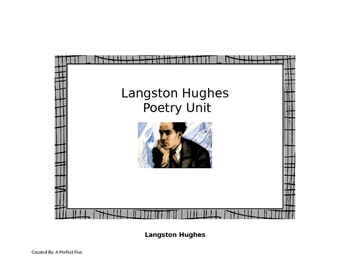 Poetry Unit: Langston Hughes