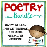 Poetry Unit: PowerPoint Lesson, Interactive Notebook, Analysis Sheets, and More!