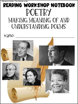 Poetry Unit: Making Meaning of and Understanding Poetry (Printable Notebook)