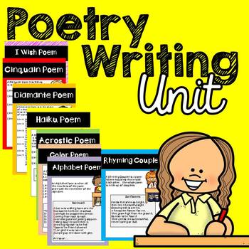 Poetry Unit with Anchor Charts (Primary Grades)