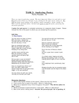 Poetry Unit Packet