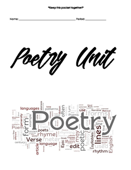 Poetry Unit Packet Cover [FREEBIE]