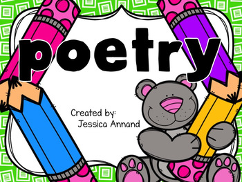 Poetry Unit - Personification, Alliteration, Rhyme, Repetition 2.RL.4