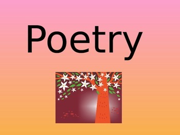 Poetry Unit Power Point Sample Mentor Poems