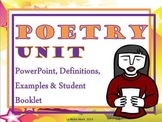 Poetry Unit PowerPoint with Student Booklet