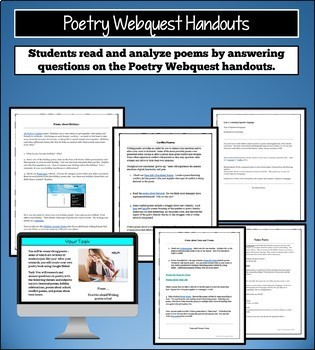 Poetry Unit Project for Teens and Tweens: Poetry Webquest, Create a Poetry eBook