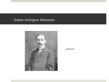 Poetry Unit: Robinson, Masters, Frost, Sandburg, Pound, & Eliot