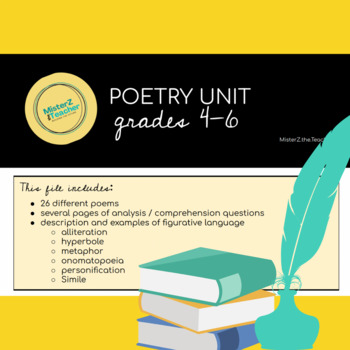 Poetry Unit: Search in the Text for Figurative Language &