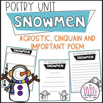 Snowmen Poetry {Print and Go}