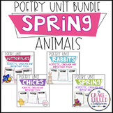 Spring Time Animals Poetry Unit Bundle