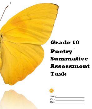Poetry Unit - Summative Assessment Task