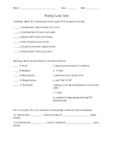 Poetry Unit Test and Answer Key