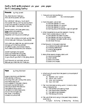 Poetry Unit Test_Co-Taught