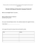 Poetry Unit: Thematic Anthology with Figurative Language I