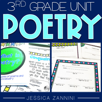 poetry unit third grade complete pack aligned with common core standards. Black Bedroom Furniture Sets. Home Design Ideas