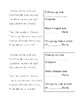 Poetry Unit Vocabulary Booklet