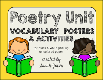 Poetry Unit Vocabulary Posters & Activities