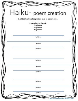 Poetry Unit- examples & student templates