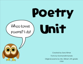Poetry Unit for SMART Notebook