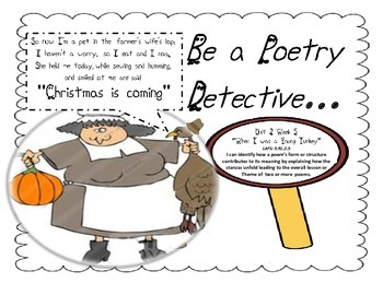 Poetry Unit for Thanksgiving